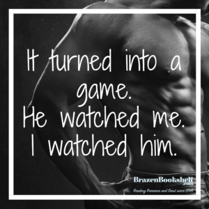 It turned into a game. He watched me. I watched him.